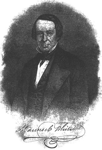Maunsel White - Colonel Maunsel White as depicted in DeBow's Review, 1853.