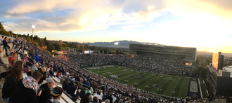 Maverik Stadium - View from northeast in 2017