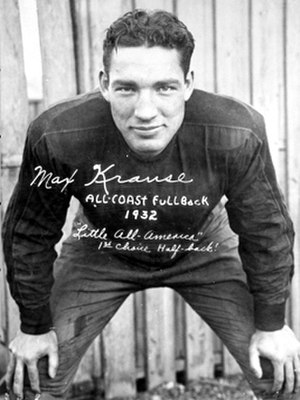 Washington Redskins - Max Krause was a running back for the Redskins from 1937 to 1940