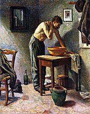 Lavado del hombre , 1887