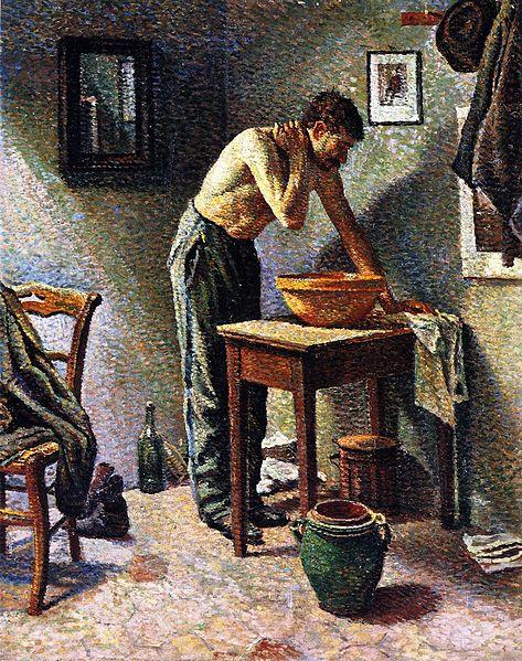 File:Maximilien Luce-Man Washing.jpg