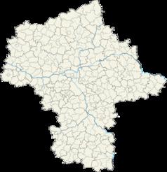 Mapa lokalizacyjna województwa mazowieckiego