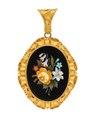 Medaljong med florentinsk mosaik, 1800-tal - Hallwylska museet - 109724.tif