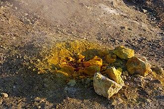 Solfatara (volcano) - Image: Medium fumarole in Solfatara crater