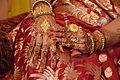 Mehendi-clad Hands - Bengali Hindu Bride - Howrah 2015-12-06 7393.JPG