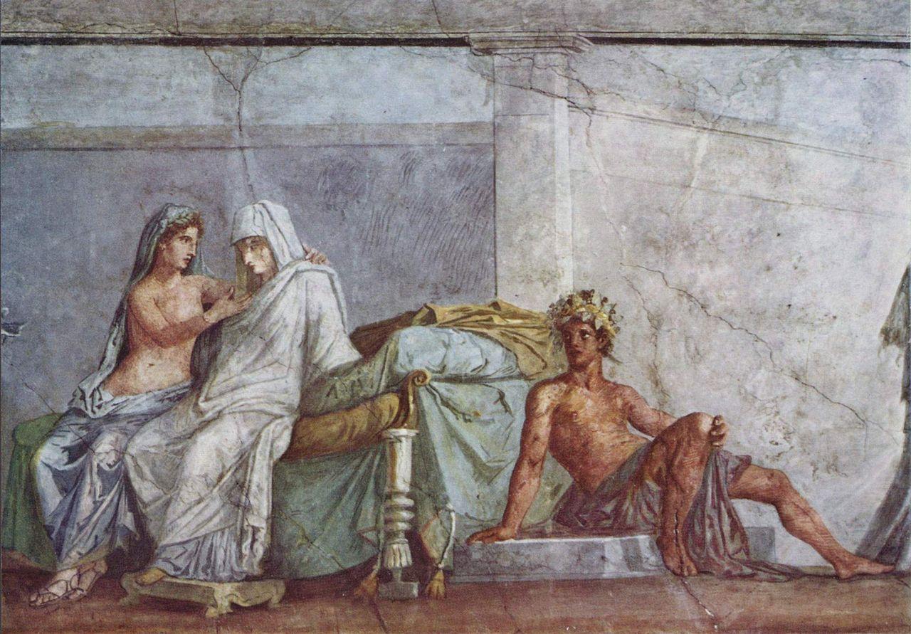 Фрагмент настенной живописи - Древний Рим - связь современной арт-фотографии и искусства
