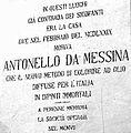 Messina Targa riconoscimento onorifico di Antonello da Messina.jpg