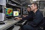 Meteorologists analyze Hurricane Florence in aboard USS Kearsarge (LHD 3). (44676629581).jpg