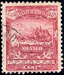 Mexico 1895 20c perf 12 Sc252 used.jpg
