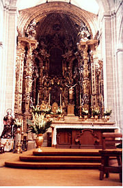 Mexico DF Cathedral altar