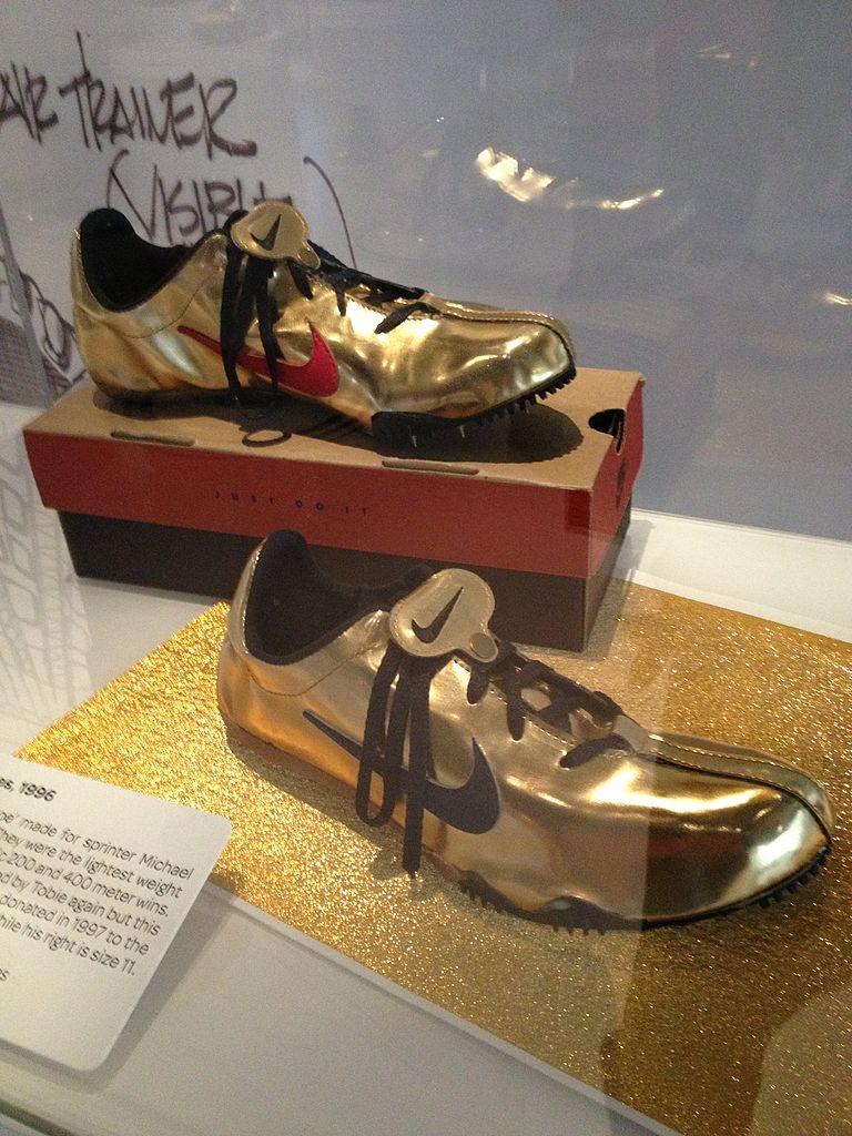 File:Michael Johnson running shoes.jpg