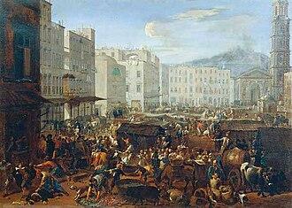 Masaniello - The revolt of Masaniello by Michelangelo Cerquozzi and Viviano Codazzi