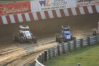 Midget car racing - Midget cars racing at Angell Park Speedway