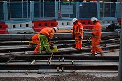 Midland Metro - track laying - Upper Bull Street - Birmingham 10.JPG