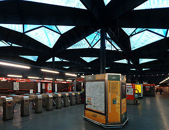 Milan Metro - Line M1 at Amendola station