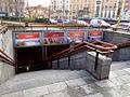 Milano staz metropolitana Amendola scale Fiera.JPG