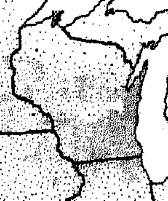 1933 Wisconsin milk strike - Distribution of milk production in 1929 from 1930 Census.