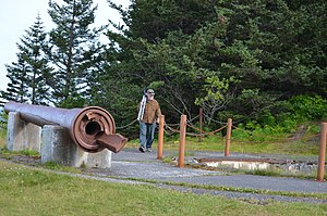 National Register of Historic Places listings in Kodiak Island Borough, Alaska - Image: Miller Point Gun Enplacement