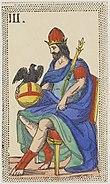 Minchiate card deck - Florence - 1860-1890 - Trumps - 03 - Papa tre.jpg