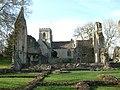 Minster Lovell Church through the ruined Hall - geograph.org.uk - 16228.jpg