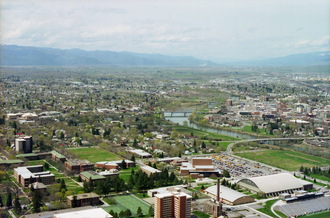 Missoula, the second-largest city in Montana Missoula Skyline.png