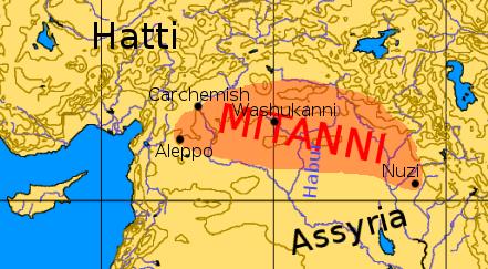 Mitanni map