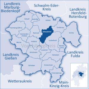 Schwalmtal, Hesse - Image: Mittelhessen Vogelsberg Sal