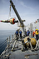 Mk 54 torpedo is recovered by USS Roosevelt (DDG-80) in April 2014.JPG