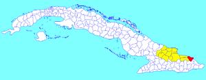 Moa, Cuba - Image: Moa (Cuban municipal map)