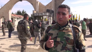 Jaysh al-Salam - Abdul Karim Obeid, the commander of the Liberation Brigade, in al-Shaddadi after the offensive in February 2016