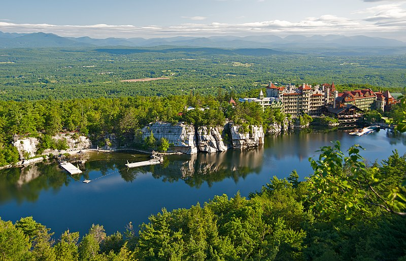 File:Mohonk Mountain House 2011 View of Mohonk Lake from One Hiking Trail FRD 3247.jpg