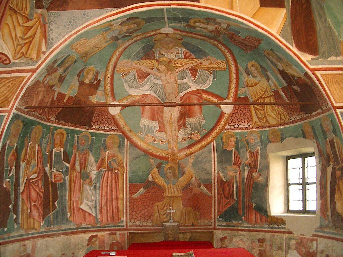 Momo Chiesa SS Trinità Affreschi Abside.jpg