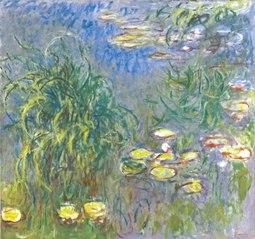 Water Lilies, Cluster of Grass