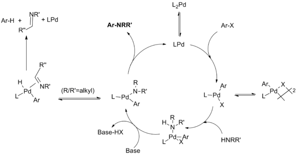 Catalytic cycle for monodentate phosphine ligand systems