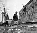 Monor 1969, a Gépjavító Állomás építése. Fortepan 89764.jpg