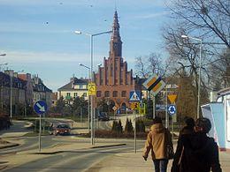 Morąg - stare miasto i ratusz