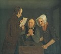 Moritz Unna - A Schoolmaster Reading Aloud a Letter to an Old Couple from Their Son Abroad - KMS268 - Statens Museum for Kunst.jpg