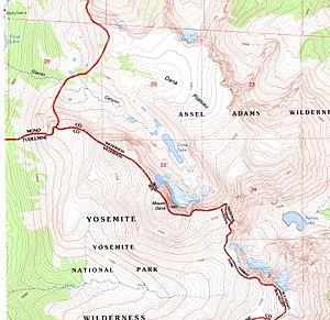 Mount Dana - Mount Dana Topographic Map