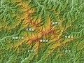 Mount Iide Relief Map, SRTM-1 (Japanese).jpg