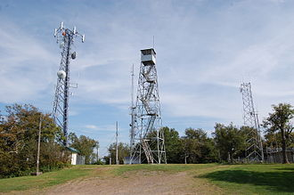 Stamford (village), New York - A fire lookout tower on Mount Utsayantha