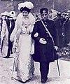 Mozafaredin Shah of Iran & Queen Elena of Italy.jpg