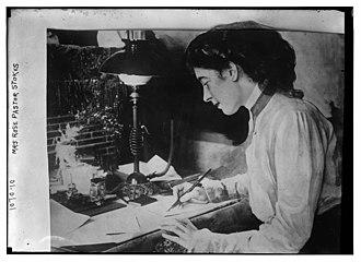 Rose Pastor Stokes - Rose Pastor Stokes at work at her desk, circa 1910.