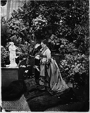 Andrew Allan (shipowner) - Mrs Allan in their conservatory, 1871