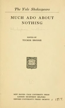 Much Ado About Nothing (1917) Yale.djvu
