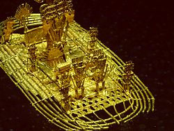 Muisca raft - detail - Museo del Oro, Bogotá.jpg