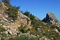 Muralla del poblat ibero-romà de Segària i cresta.JPG