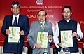 """Murli Deora releasing the Annual Report (2009-10) of Directorate General of Hydrocarbons under Ministry of Petroleum and Natural Gas, at the inauguration of the """"NELP-IX Promotional Road Show"""", in Mumbai on October 18, 2010.jpg"""
