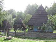 Museum of Folk Architecture and Ethnography in Pyrohiv - old wooden building - 2434.jpg