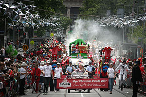 Bourke Street, Melbourne - Myer Christmas Parade (2007)