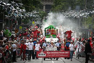 Bourke Street, Melbourne - Myer Christmas Parade (2007)